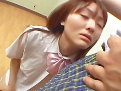 avmost - Japanese school chick riding and humping on a stiff man meat