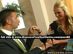 Stunning blonde wife at the table with her husband