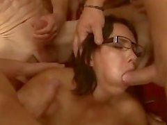 Nerdy Brunette Is Involved In A Messy Mission - GANGBANG [XP]