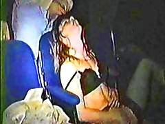 Hidden cam captures horny couples at the porn theater having hot sex