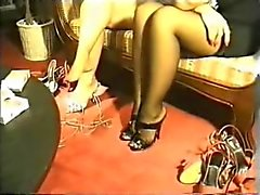Footjob domination by two goddesses