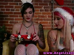 Tattoo goth emo amateurs give naughty toys