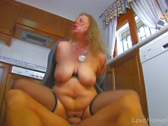 BBW Gets Fucked Hard In The Kitchen