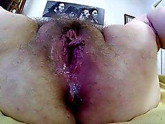 behaarte offnen vagina