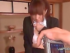 Japanese school doll flashing her hot panties and bra