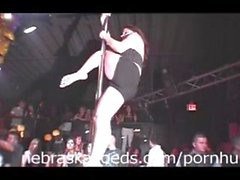 Stripper Pole Contest at a Normal Night Club