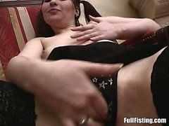 Pigtailed Horny Teen Masturabating Pussy Insertions
