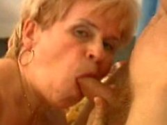 Granny blows and swallows
