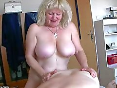 Very chubby girl and old granny suck dick