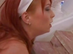 Hot young maid gets anally fucked