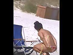 spy spanish sexy beach ass 60