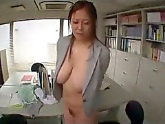 Fat Secretary Getting Handcuffed Tits Rubbed And Tortured With Clips By 2 Guys In The Office