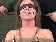Gstring tied sub gets nipples punished