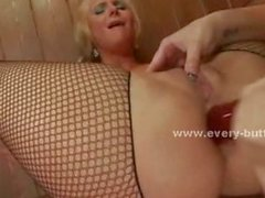 Blonde sexy bar babes are fucked in dirty rough anal sex in extre