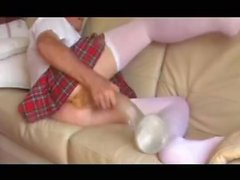 straight teen schoolgirl anal sextoy fisting pantyhose 84