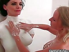 Dirty Carmen sculpting her girlfriends part5