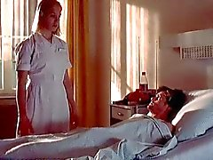 Nurse Franka Potente gives patient reluctant handjob