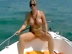 Step Mom Out On The Boat