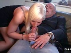 German 18yr old Teen get fuck by 64yr old Grandpa for Money