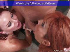 Naughty America Janet Mason fucking in the living room with