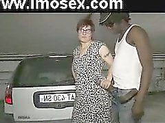 French mature Lise and 2 black cocks