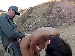Latina ho rammed outside