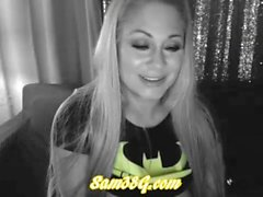 Samantha 38g part 2 Cosplay as BatWoman live cam show