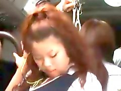 Hot Asian Schoolgirl Fucked in a packed bus