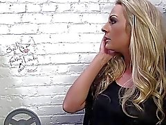Sindy Lange Sucks Black Cock at Gloryhole