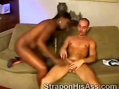 Ebony goddess wants to dry her white boyfriends cock
