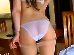 Asian Teen Girl Teases Her White Panties