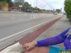 Milf Hunter - Bus stop mom gets picked up