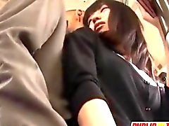 Aino gets dick of stranger in bus