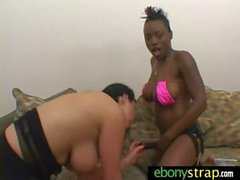 Interracial lesbian sex with two beautiful girls 8