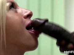 Manu Magnum is horny today. This milf teacher with her big