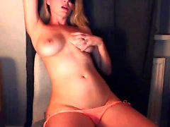 Gorgeous busty Piper Fawn having a wild solo masturbation