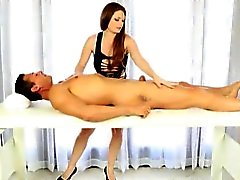 Booby masseuse Allison Moore blowjobs and facialized