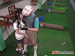 Sweet Asian Girl Wants Her Golf Coach