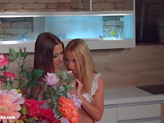 My kitchen love by Sapphic Erotica - lesbian love porn with