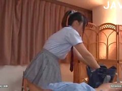 Girl Massaging A Guy
