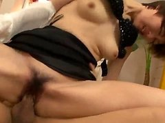 Akina Hara banged in both hole - More at 69avs