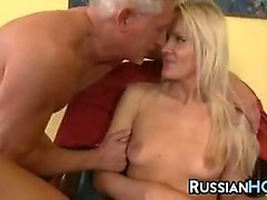 Old Guy Fucking A Blonde Chick