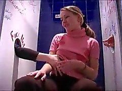 Double glory hole for cute teen