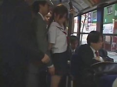 asian teen schoolgirl groped in bus by group