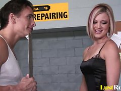 Cock thirsty Jasmine Jolie receives her juicy reward