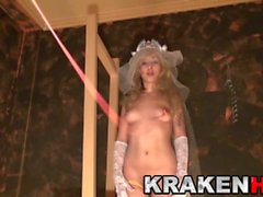 Krakenhot - Young Bridein a homemade BDSM casting