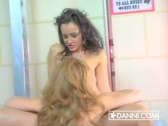 Jamie Lynn and Lisa Ann at the bus stop