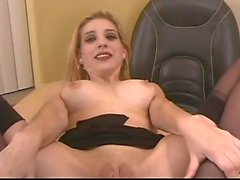 Secretary with Big Boobs and Shaved Pussy GV00043
