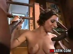 Latin Chick Fucked By Two Big Cocks