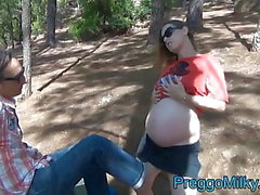 pregnant amateur wife anal fucked in the forest